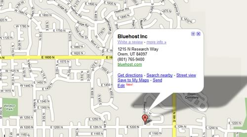 BlueHost location