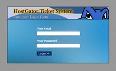 Hostgator ticket system login