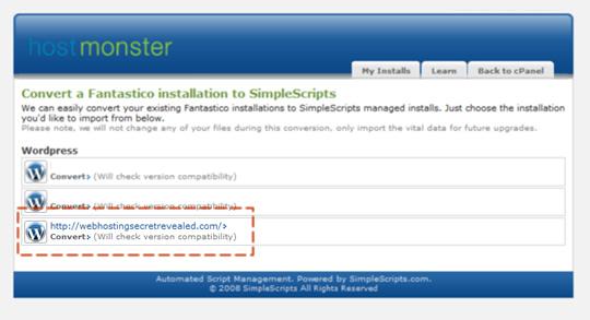 WordPress installed at server