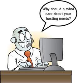 Web hosting customer supports