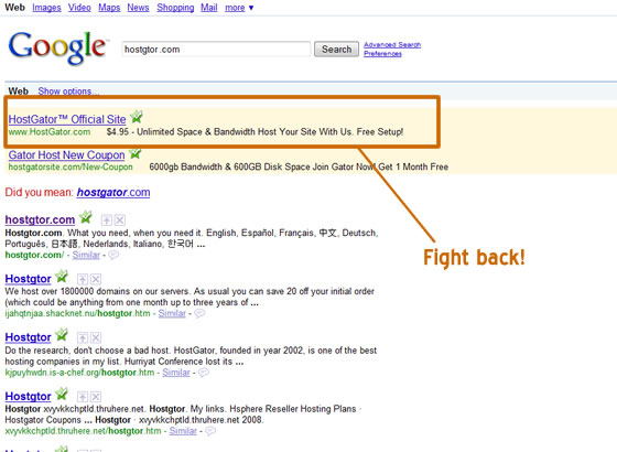Hostgator Adwords placement