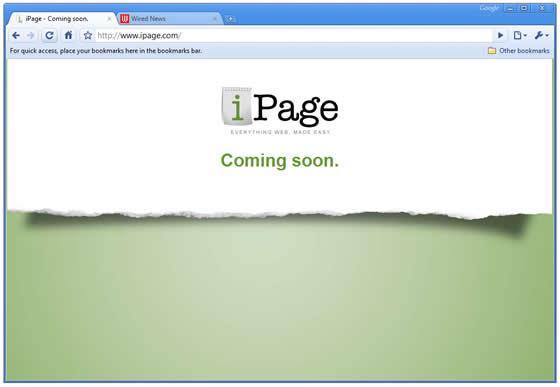 iPage - Coming Soon