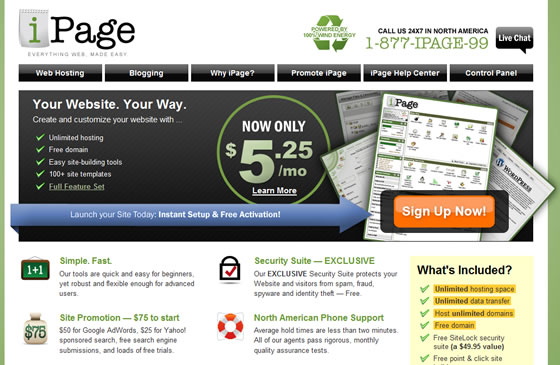 iPage Hosting launched!