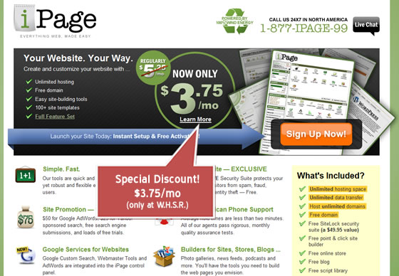 iPage Special Discount
