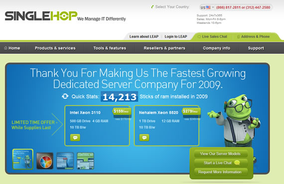 SingleHop hosting industry