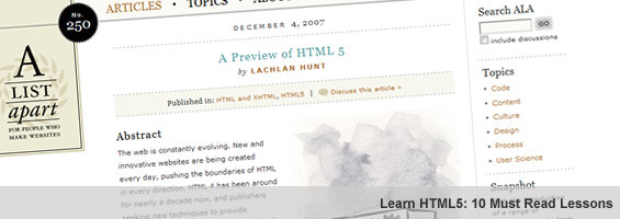 HTML5 Guides: 10 Must Read Tutorials