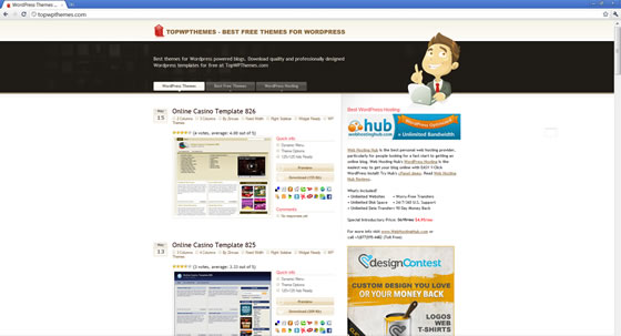 WordPress Themes Site - Featured By Web Hosting Secret Revealed