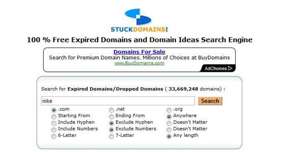 Stuck Domains screenshot