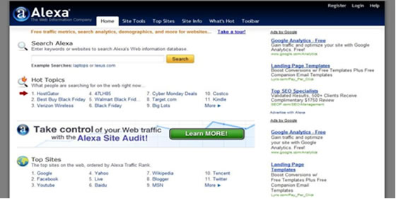 Hostgator Black Friday Sales 2010 - Alexa Ranking