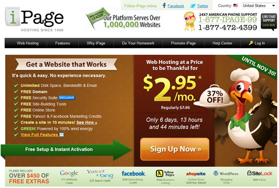 iPage ThanksGiving Discount