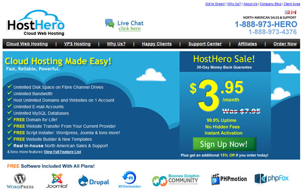HostHero Homepage