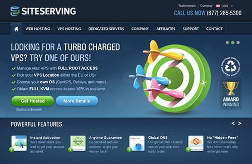 SiteServing Homepage