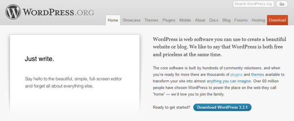 Homepage WordPress