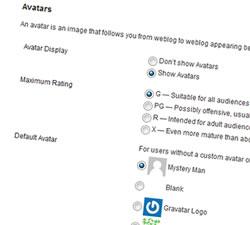 Ιστοσελίδα του Gravatar