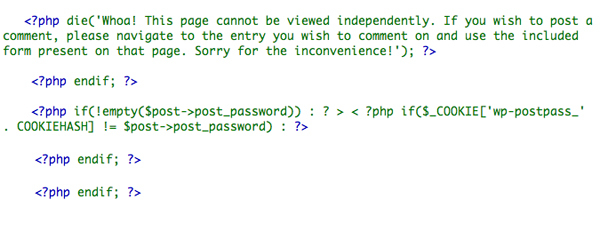 WordPress上的Comments.php