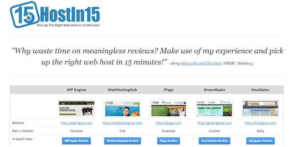 Host In 15 Homepage