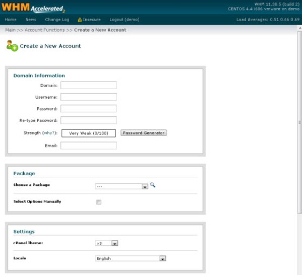 Compare web hosting control panel - About cPanel WHM
