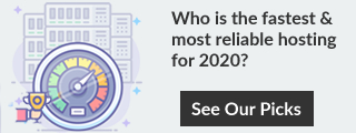 Bandingkan hosting web terbaik pada tahun 2020.