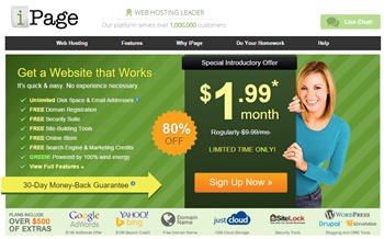 Budget Hosting at iPage