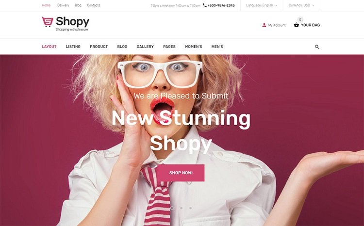 Shopy - Shopify Template Design