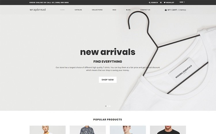 WrapBread - Shopify Template Design