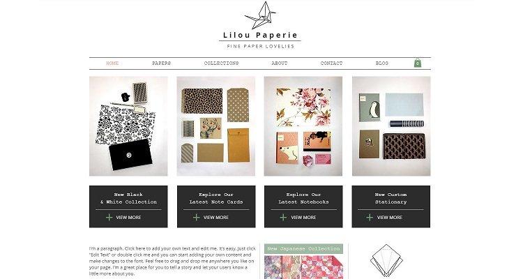 Modèle de site Web de commerce électronique Wix gratuit - Lilou Paperie