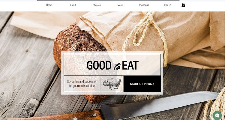 Template situs web wix e-commerce gratis