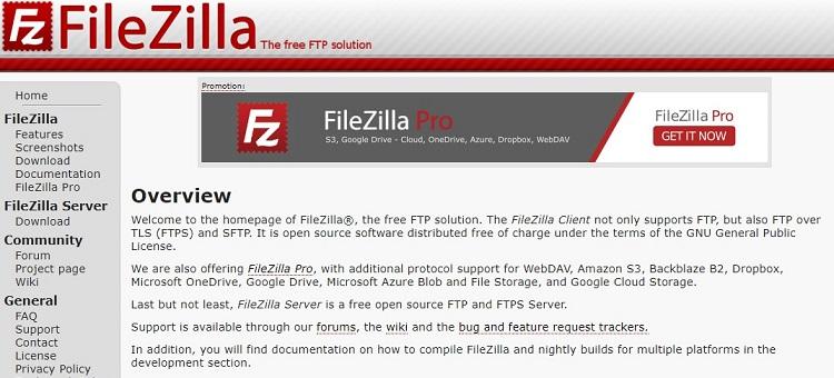 FTP用の無料Webツール