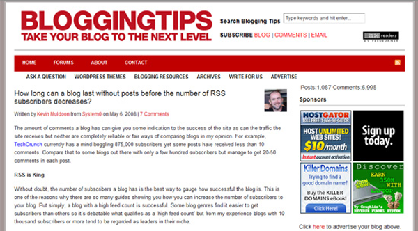 BloggingTips Design