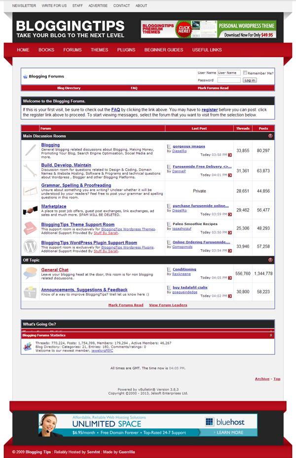 BloggingTips Forums
