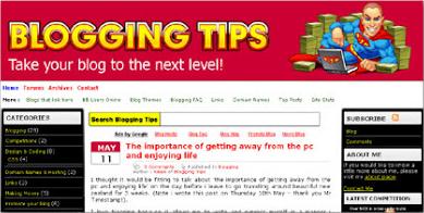 BloggingTips Initial Design