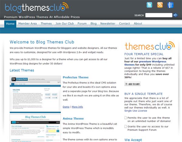 Blog Themes Club
