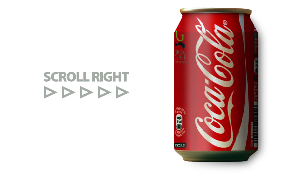 CSS 3 Animation Examples: Scrolling Coke Can