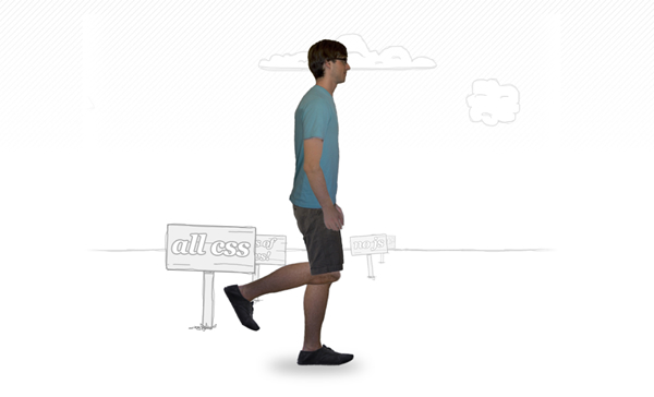 CSS 3 Animation Examples: The Walking Man