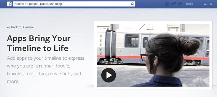 Herramientas de línea de tiempo de Facebook