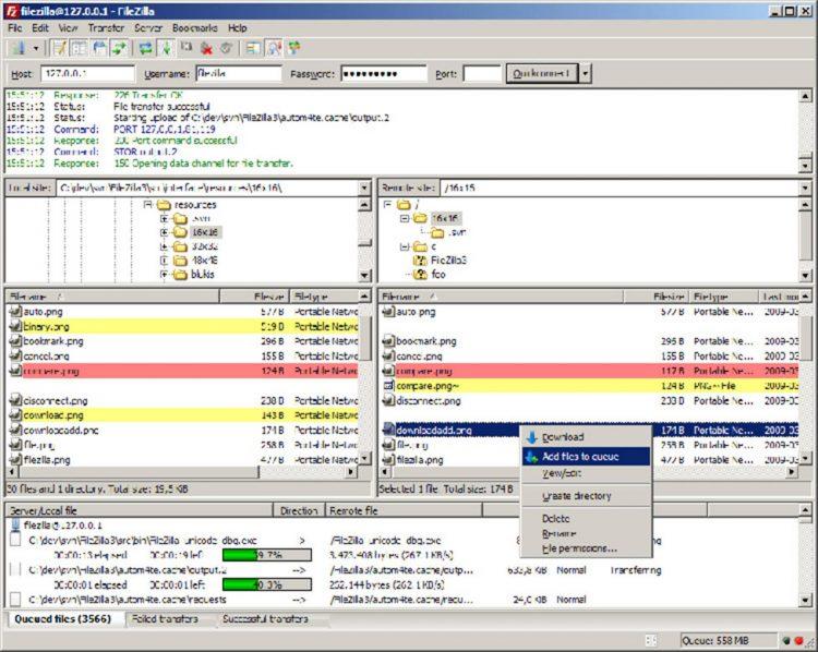 Phần mềm FTP để tạo trang web