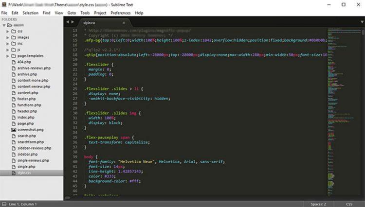Tạo một trang web với văn bản Subline