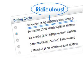 Long Subscription Period for Cheap Hosting Price