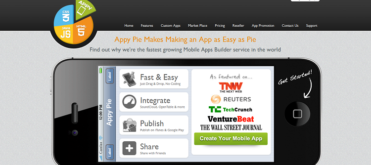 appy pie screenshot