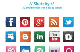 Sketchy - Hand Drawing Social Media Icon Sets