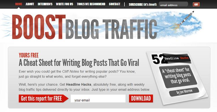 boost blog traffics