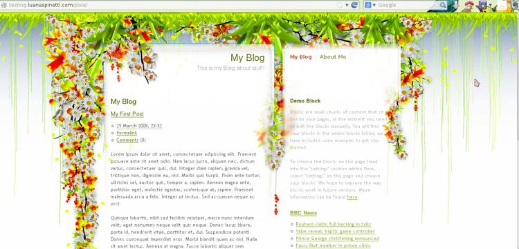 Homepage di Pixie