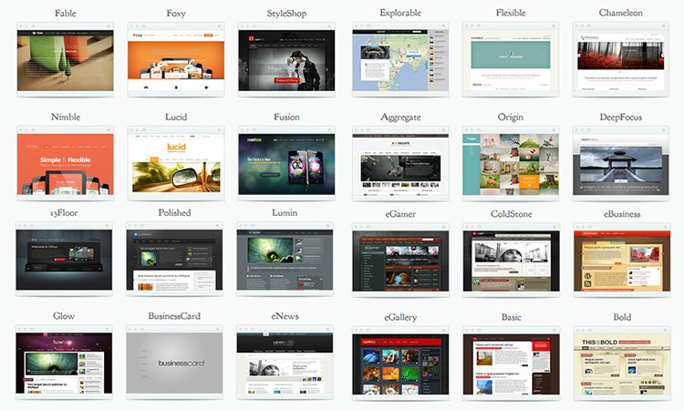 elegant themes samples