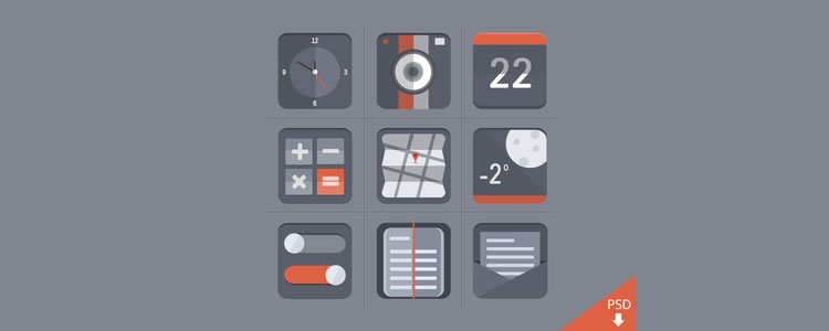 flat icon set - barry