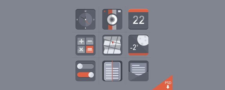 flat icon set - barry