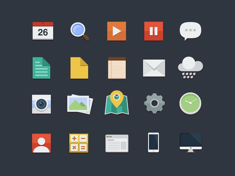 flat icon set - buatoom