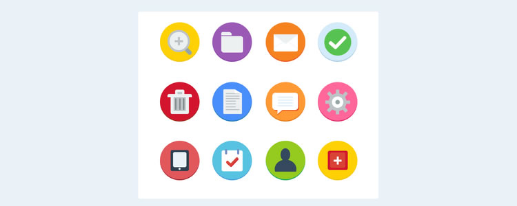 flat icon set - dan