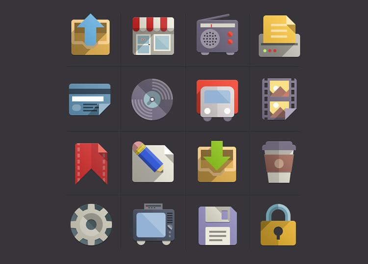 flat icon set - google inspired