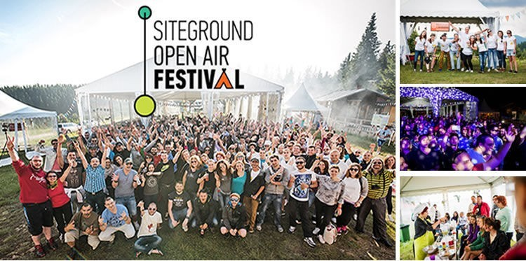 Siteground Open Air Festival (July 2016) at SiteGround Camp: over 300 SiteGrounders from several offices in different cities gathered in one place for a massive team building event.