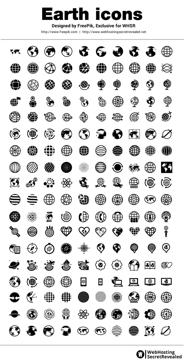 a91f171abd55c FreePik Earth Icons - 180 Free Minimalist Designed Icons